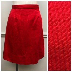 Vintage 1960s Short Red A-line Skirt Size XS/S 25""